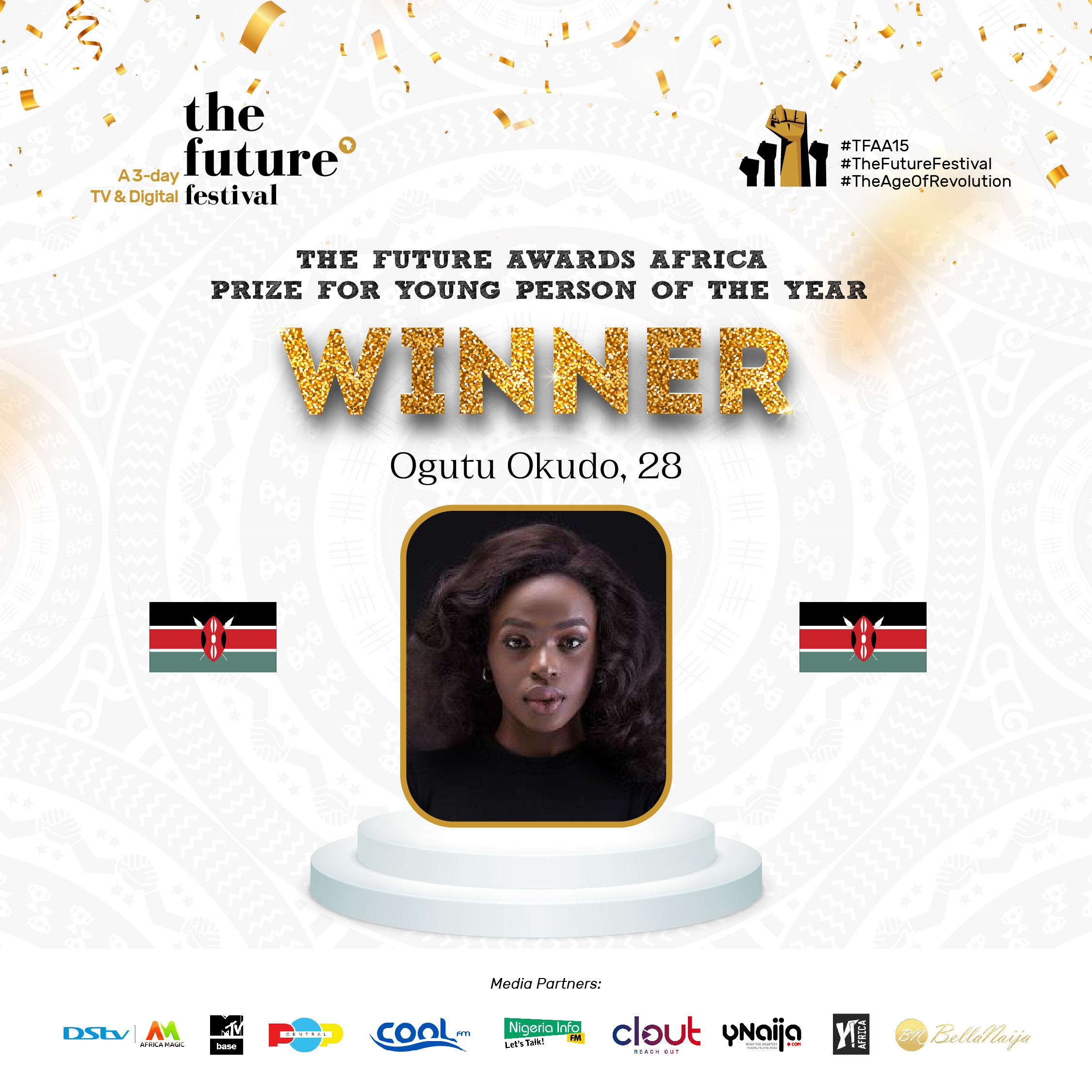 """""""Woman on a mission to disrupt the energy sector"""", Ogutu Okudo emerges winner of the coveted Young Person of the Year Prize at The Future Awards Africa 2020"""