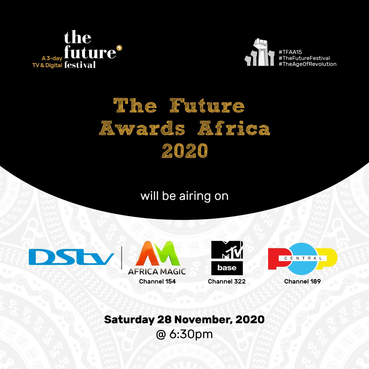 The Future Awards Africa 2020 to air this Saturday on Africa Magic, MTV Base and Pop Central TV | Toke Makinwa and Sammy Walsh unveiled as hosts